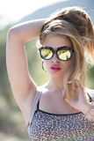 Fashionable super cute blond lady Royalty Free Stock Photography