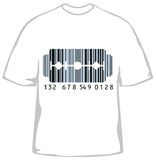 Fashionable t-shirt with barcode Royalty Free Stock Photo