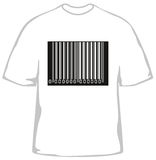 Fashionable t-shirt with barcode Stock Photos