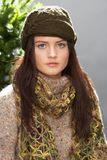 Fashionable Teenage Girl Wearing Cap And Knitwear Royalty Free Stock Photo