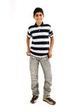 Fashionable teenager boy. Is very happy Royalty Free Stock Photos