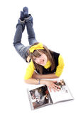 Fashionable teens Stock Images