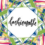 Fashionable text for blog design. Vector fashion decorative frame Royalty Free Stock Images