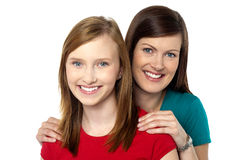Fashionable trendy daughter and mom Royalty Free Stock Images