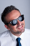 Fashionable, trendy and modern business man wearing shades Royalty Free Stock Image