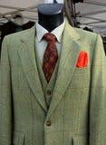 Fashionable Tweed jacket and waistcoat Stock Images