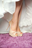Fashionable Wedding Shoes Stock Images