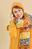 Fashionable winter outfit worn by woman Royalty Free Stock Images