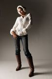 Fashionable Winter Woman Royalty Free Stock Image