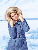 Fashionable wintertime style Stock Image