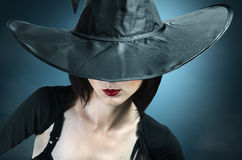 Fashionable witch Halloween stock photography