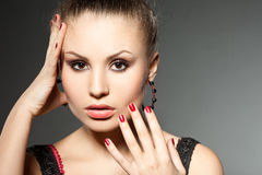Fashionable woman Royalty Free Stock Images