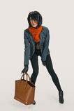 Fashionable woman with bag Royalty Free Stock Image