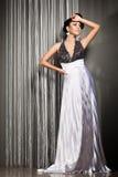 Fashionable woman in beautiful dress Royalty Free Stock Photo