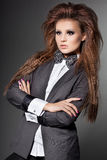 Fashionable woman with bow-tie Stock Photo