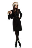 Fashionable woman in coat Royalty Free Stock Photos