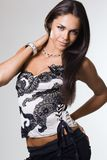 Fashionable woman in a corset Royalty Free Stock Photo