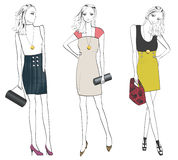 Fashionable woman in different poses. Stock Image