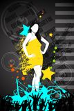 Fashionable Woman. Easy to edit vector illustration of fashionable woman in party background Stock Photo