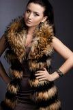 Fashionable woman in fur Stock Photo