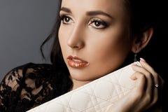 Fashionable woman with handbag Royalty Free Stock Photo