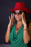 Fashionable woman in hat Royalty Free Stock Photo
