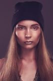 Fashionable woman in hat Royalty Free Stock Photography