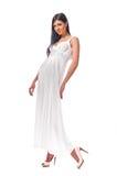 Fashionable woman isolated on white background Stock Photo