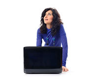 Fashionable woman with laptop Stock Photos