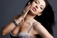 Fashionable woman in lingerie Royalty Free Stock Photo