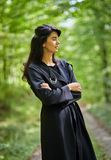 Fashionable woman outdoor Stock Image