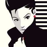 The fashionable woman. Pop art illustration Royalty Free Stock Photography