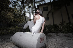 Fashionable woman posing Royalty Free Stock Photos