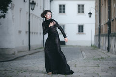 Fashionable woman posing Stock Photography