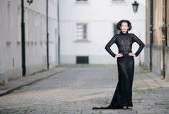 Fashionable woman posing Royalty Free Stock Images