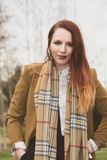 Fashionable woman with scarf Royalty Free Stock Photography