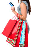 Fashionable woman, shopping concept Royalty Free Stock Photography