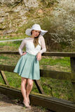 Fashionable woman in spring Royalty Free Stock Image
