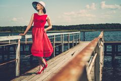 Fashionable woman Stock Photography