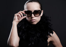 Fashionable woman in sunglasses Royalty Free Stock Images