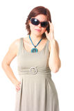 Fashionable woman with sunglasses Stock Photos