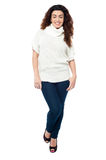 Fashionable woman in trendy casual wear Royalty Free Stock Image