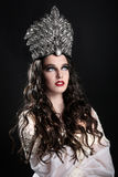 Fashionable Woman Wearing High End Head Piece Stock Image