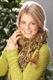 Fashionable Woman Wearing Knitwear In Studio Royalty Free Stock Photo