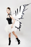 Fashionable Woman with Wings Royalty Free Stock Photos
