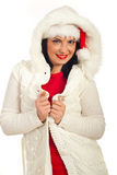 Fashionable woman in winter clothes Royalty Free Stock Photography