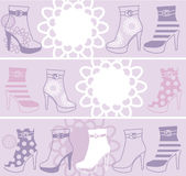 Fashionable womanish boots Royalty Free Stock Image