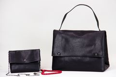 Fashionable women bag. Two fashionable lether women bag Royalty Free Stock Image
