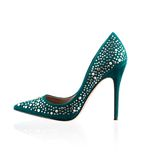 Fashionable women high heel shoe Stock Image