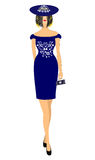 Fashionable women's clothes  illustration Stock Image